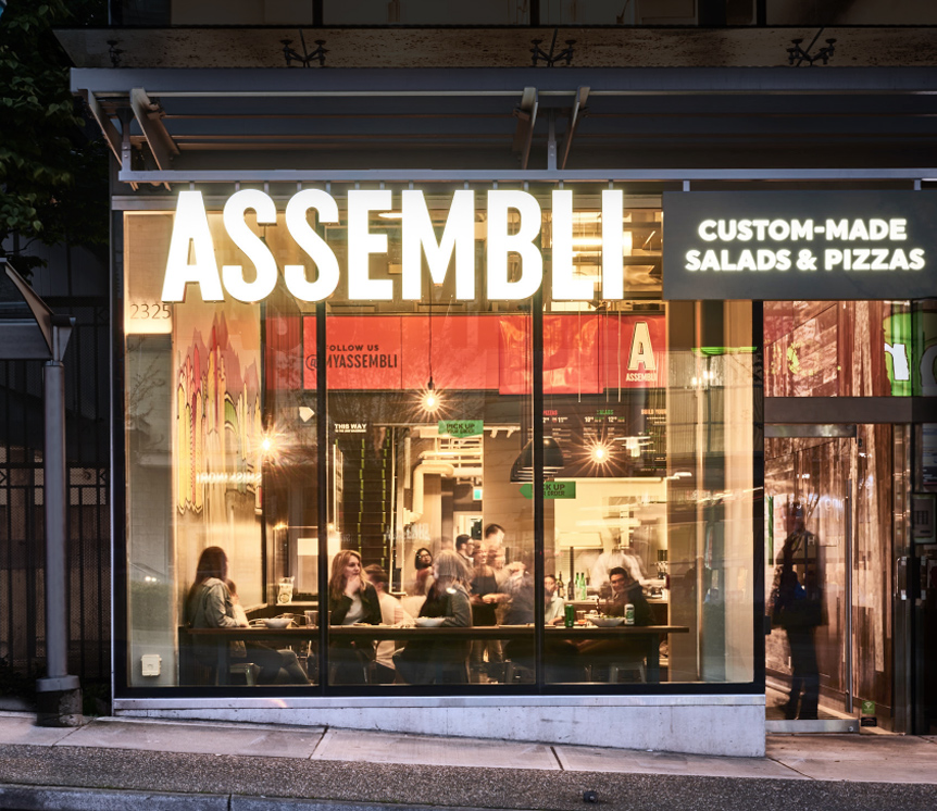 Assembli Custom Made Salads & Pizzas Store Front